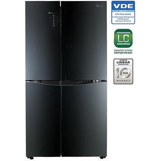 LG 1001 L GR-D35FBGHL French Door Frost Free Refrigerator - LUMINOUS BLACK