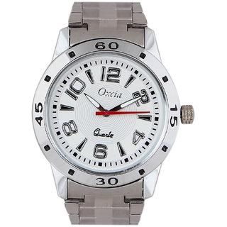 Oxcia Watch Square Dial Silver Metal Strap Men Quartz Watch