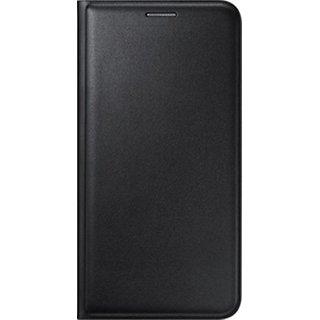 Premium Black Leather Flip Cover for Vivo Y21L