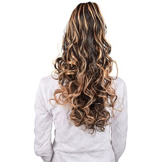 Homeoculture Golden Highlighting hair extension with Plastic clutcher 24 inches