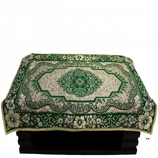 Satroop chenille table cover Rd02green