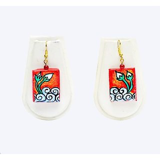 Terracotta-Box Shaped Earrings