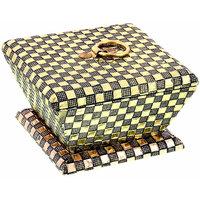 Jaipur Raga Handcrafted Golden Jewellery Or Choclate Box Gift Item  HCFHW369
