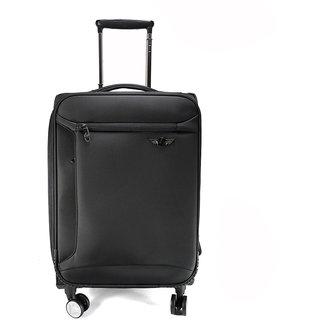 Texas USA 20 inch 4 wheel Trolley Bag,Black