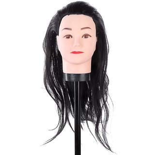Cosmetology Mannequin Head 18 Synthetic Hair Black  Hair dummy