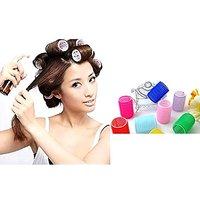 Hair Rollers Curlers 6 Diy Styling Velcro Soft Curler Foam Tool 6pcs Profesional Roller Bendy Self Sponge Style Hair