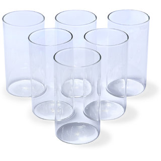 ALCO Set of 6 Transparent Borosilicate Glasses 330mL