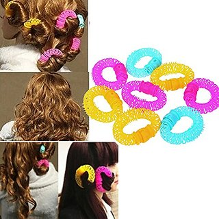 6 pcs/set Magic Beauty Spiral Curly Ringlets Circles Hair Accessories Hair Styling Tools Lucky Donuts Curly Hair Curls