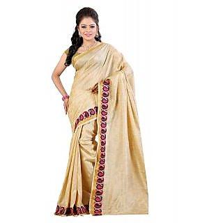 Fashionoma Pink Cotton Printed Saree With Blouse