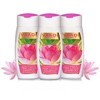 Vaadi Herbals Value Pack of 3 PINK LOTUS SHAMPOO with Honeysuckel Extract - Color Preserving (110mlx3)