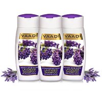 Vaadi Herbals Value Pack of 3 LAVENDER SHAMPOO with Rosemary Extract-Intensive Repair System (110mlx3)
