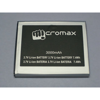 Original A114/A115/A116/A117/A210/A92 Battery-3000MAH FOR MICROMAX CANVAS 3D/HD/