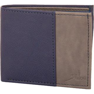 Two Tone Wallet in Blue