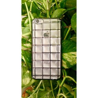 Iphone 6 / 6s Bubble Grid Design Black Back Cover
