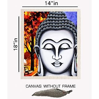 Decor Savvy Devotional Canvas painting without frame + Agarbatti Stand (14x18)