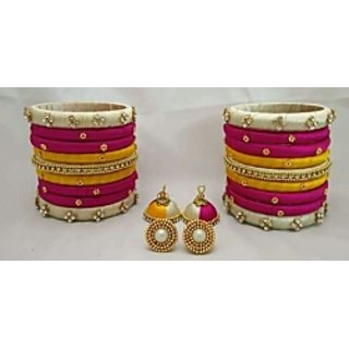 Silk thread bangles