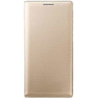 Samsung Flip Cover For Samsung Galaxy J7 - Golden