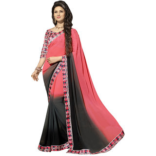 Chigy Whigy Red  Georgette party wear Sarees