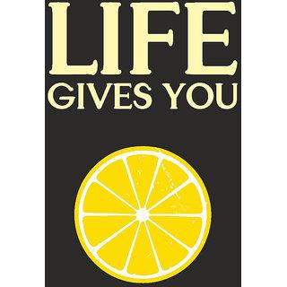 Lemons Quote Typographic Poster