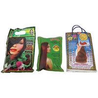 SHAMA Saniya Hair Mehandi, Herbal Pure Mehandi With Herbal Red Mehandi Combo Set For Women And Girls - (150gms Each) - Pack Of 3  - (Brand Outlet)