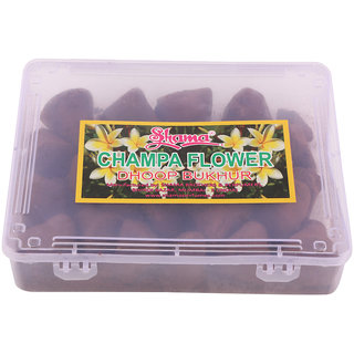 SHAMA Champa Flower Dhoop Bukhur for Peaceful Environment Room Fragrance (Incense Stone Shape), 250 grams