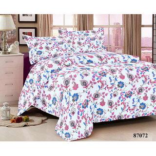 M.Tex Floral King Size Bedsheet