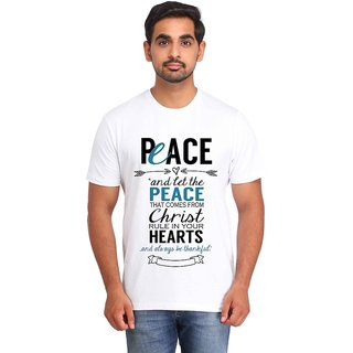Snoby PEACE print t-shirt (SBY17027)