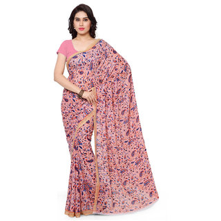 Aagaman Fashion Graceful Pink Colored Printed Faux Georgette Saree 1159A