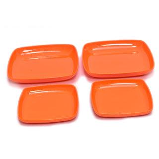 Machi Melamine Orange Square Snack Plates - set of 4: Buy Machi ...