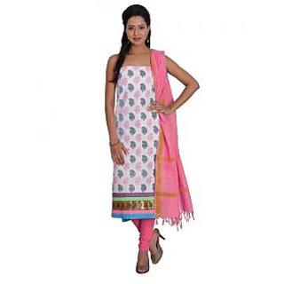 Platinum Present Cotton Women's Salwar Suit Dress Material Printed with Zari Border