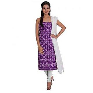 Platinum Present Cotton Women's Salwar Suit Dress Material with Pathik Print