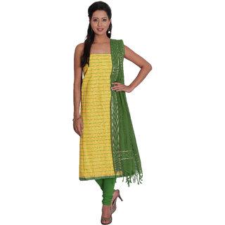 Platinum Present Cotton Women's Salwar Suit Dress Material stripes with Zari Border