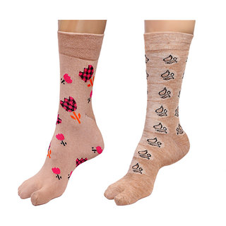 By The Way Mid Calf Thumb Socks(Pair of 2)
