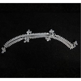 Silver Jewels -Small Simple Type Silver Anklets