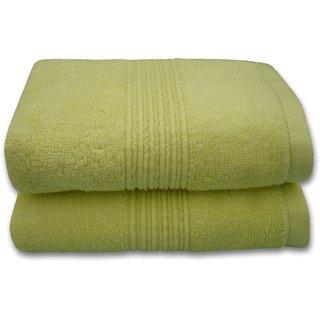 Divine Overseas Premium 2 Pieces Super Soft  100 Pure Cotton Hand Towel Set - Lemon (Ring)