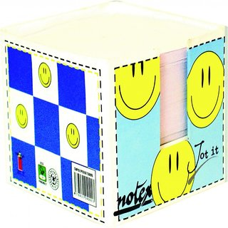 Notex JotIt PaperCube Pack of 2-Smiley