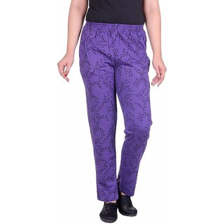 STICKY Printed Women's Purple Track Pants