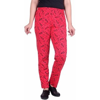 STICKY Printed Women's Red Track Pants