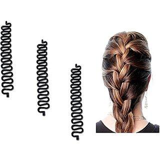 Homeoculture 3pcs/lot Women Fashion Hair Styling Clip Hair Braider Twist Styling Braid Tool  Easy to use