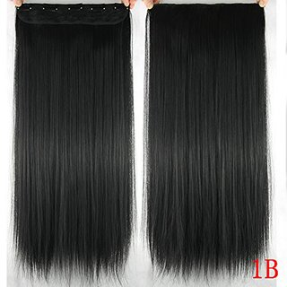 Homeoculture Straight Synthetic 30 inch Hair Extension With Free Puff Maker