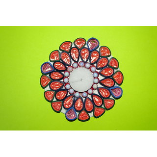 Paper Quilling Diya Plate