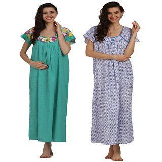 Miavii Multicolor Printed Nighty (Pack of 2)