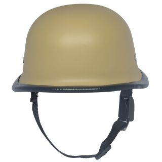Fashno  German Cap Design Open Face Half Helmet in Beige color (FP-BGE-HLMT-28)