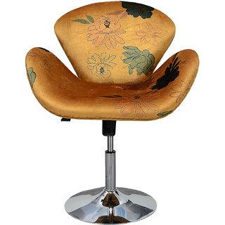 Muebleria yellow floral print bar chair