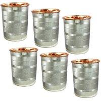 Best Utensils India Steel Copper Glasses 200 Ml Each