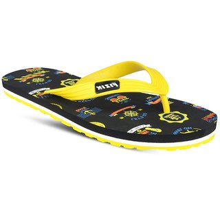 cf609287b Buy Fizik Men s Yellow   Black Flip Flops Online - Get 48% Off