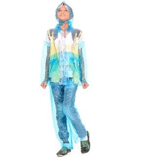ALLWIN Raincoat Rainsuit Full Sleeve Coat, Cap, CP-1751ASKY BLUE