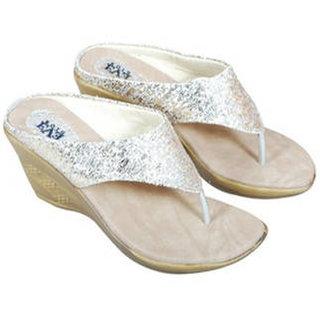 Eve Dior Women Gold Open Flats