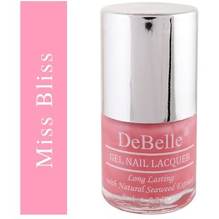 DeBelle Gel Nail Lacquer Miss Bliss, 8 ml (Pink- Shimmer)
