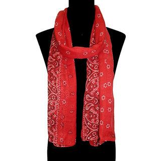 Urban-Trendz Printed Polyester Red Stoles